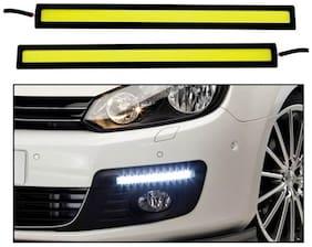 Cartronics Car Fog Led Lights / Drl Day Time Running Lights - Bright White Led 6000K