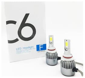 Cartronics C6 LED Headlights H4 6000K High Power Auto Bulbs White Light 2 pc