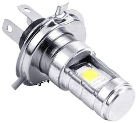 Cartronics H4 Hid Led White Headlight Bulb For All Bikes And Scooty 1Pc