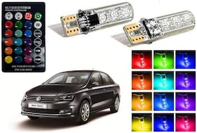 Cartronics Parking MultiColor Remote Bulb For Volkswagen Vento Pack Of 2