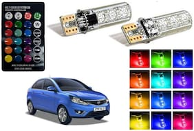 Cartronics Parking MultiColor Remote Bulb For Tata Zest Pack Of 2