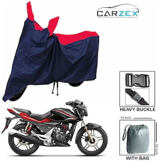 CARZEX Bike Body Cover For Hero Xtreme Sports With Storage Bag (Red Blue)