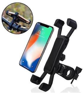CARZEX Universal Bike Mobile Holder Motorcycle Mount & Stand For Mobile GPS Rotatable For (All Bikes) Handle Grip