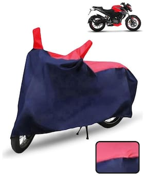 Carzex Bike Body Cover For Bajaj Pulsar Ns200 Motorcycle Cover(Red & Blue)
