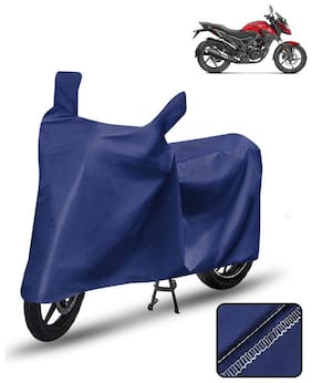 Carzex Bike Body Cover For Honda X Blade Motorcycle Cover Blue