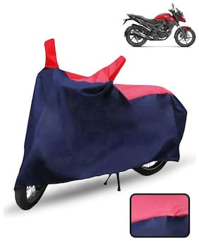Carzex Bike Body Cover For Honda X Blade Motorcycle Cover(Red & Blue)