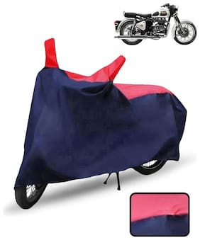 Carzex Bike Body Cover For Royal Enfield Classic 350 Motorcycle Cover(Red & Blue)