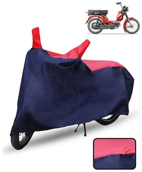 Carzex Bike Body Cover For Tvs Xl 100 Motorcycle Cover(Red & Blue)