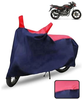 Carzex Bike Body Cover For Bajaj Pulsar 150 Motorcycle Cover(Red & Blue)