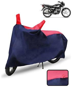 Carzex Bike Body Cover For Hero Splendor Plus Motorcycle Cover(Red & Blue)