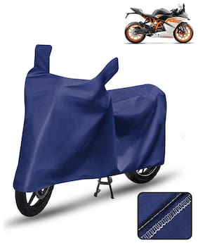 Carzex Bike Body Cover For Ktm Rc 200 Motorcycle Cover Blue