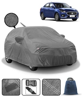 Carzex Car Body Cover For Maruti Dzire 2018 With Mirror & Antenna Pockets & Storage Bag (Heavy Duty;Full Sized;Triple Stitched)