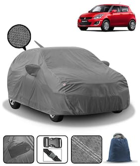 Carzex Car Body Cover For Maruti Swift 2012 With Mirror & Antenna Pockets & Storage Bag (Heavy Duty;Full Sized;Triple Stitched)
