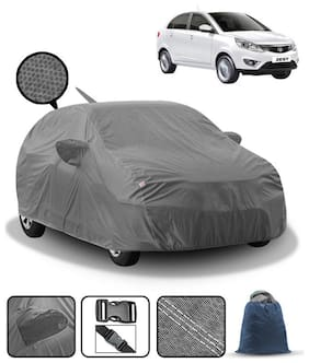 Carzex Car Body Cover For Tata Zest With Mirror & Antenna Pockets & Storage Bag (Heavy Duty;Full Sized;Triple Stitched)