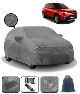 Carzex Car Body Cover For Maruti Brezza with Mirror Pockets & Storage Bag (Heavy Duty;Full Sized;Triple Stitched)