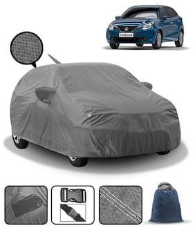 Carzex Car Body Cover For Maruti Baleno With Mirror & Antenna Pockets & Storage Bag (Heavy Duty;Full Sized;Triple Stitched)