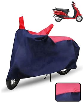 Carzex Scooty Cover For Hero Duet Scooter Cover(Red & Blue)