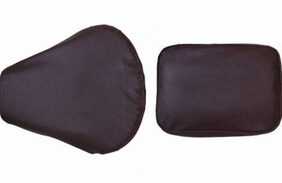 CC-Dark Brown Split Bike Seat Cover For Royal Enfield Classic Chrome