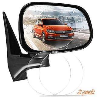 Cellfather Universal HD Anti-Fog Anti-Glare Anti-Scratch Rainproof Car Mirror Screen Protector Film (Pack of 2)