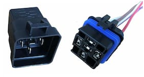 """Change-Over Relay 5-Pin Terminal 12 Volt 40 Amp and 12"""" Connector Pigtail Set"""
