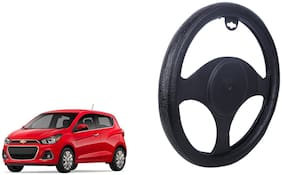 Chevrolet Spark Steering Cover Black Dual Leatherite Design