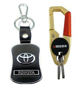 City Choice New & Exclusive Premium Quality Combo of Toyota & Omuda Hook-Locking Keychain.
