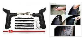 Cm Treder Tubeless Tyre Puncture Repair Kit For Cars N Bikes