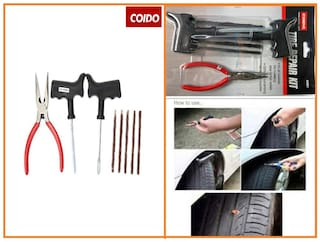 Coido 6081 Tyre Puncture Repair Kit With Rubber Strands And Piler