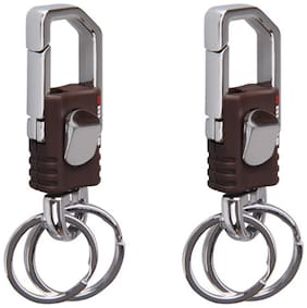 Combo Of Omuda 3713 Hook And Locking Key Chain With Double Keyring (2 pcs)