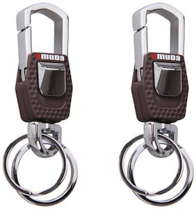 Combo Of Omuda 3717 Hook And Locking Key Chain With Double Keyring (2 Pieces)