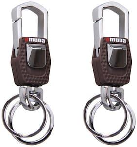Combo Of Omuda 3717 Hook And Locking Key Chain With Double Keyring (2 pcs)