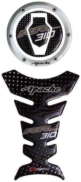 Combo TVS Apache RR 310 Customize Vinyl Tank Pad Fuel Cap Sticker
