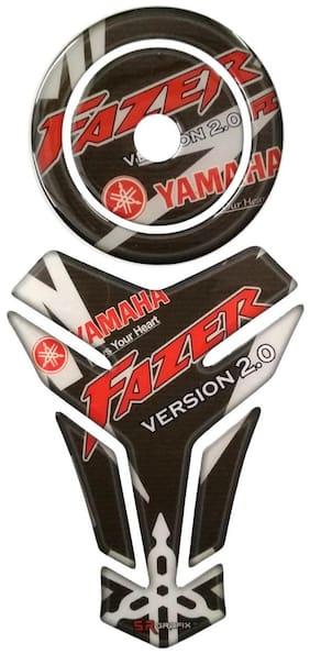 COMBO Yamaha FAZER V2 Customize Vinyl Tank Pad fuel cap Sticker