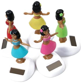 COOL MULTICOLOR  DANCING GIRL FOR YOUR CAR DASHBOARD (PACK OF 5)