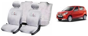 True Vision Cool White Towel Cover(Split Seat) Full Set For Maruti-Alto 800