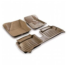 Coozo 5D Mats Beige Color For Volkswagen Vento / Polo