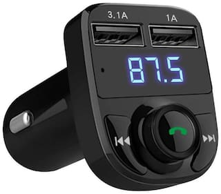 Cos theta Car X8 Dual USB Car Charger Hands-free Wireless Bluetooth FM Transmitter & Music adapter;2.0A & 1.0A Dual USB Port LCD MP3 Player which Supports TF card and U Disk-YE05