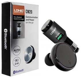 Cos theta LDNIO CM20 MONO BLUETOOTH HEADSET CAR CHARGER WITH AUTO ON-OFF BUTTON;MULTIPLE POINT CONNECTIVITY