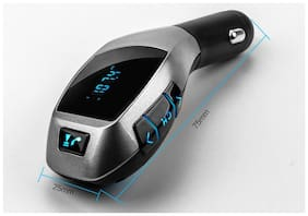 Cos theta X5 Wireless Bluetooth Car Charger Kit with USB SD Card Reader Compatible