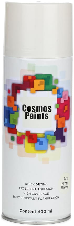 Cosmos Paints Jetta White Spray Paint 400ml