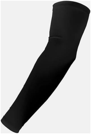 Cotton Arm Sleeve For Men & Women Black