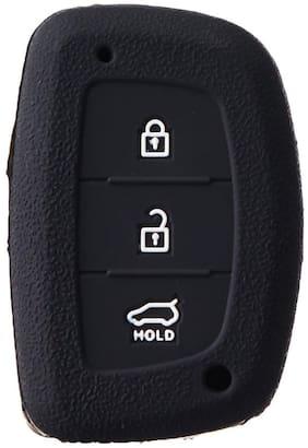 CP Bigbasket Silicone Key Cover for Hyundai Creta (Black)(pack of 2)