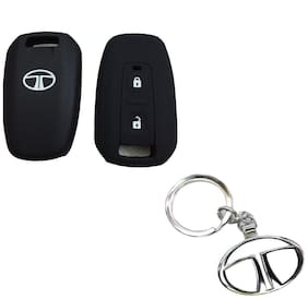 CP BIGBASKET Silicone Key Cover For Tata Manza / Vista / Indigo Remote Key (2 Button) Pack of two(2) With 1 key Chain