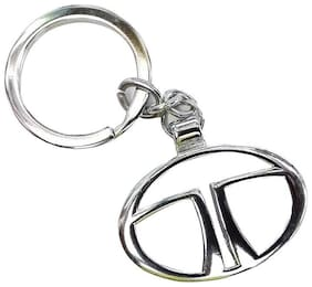 CP BIGBASKET Tata chrome plated steel imported key chain key ring car logo for Nano Bolt Zest Vista Indica Manza Indigo