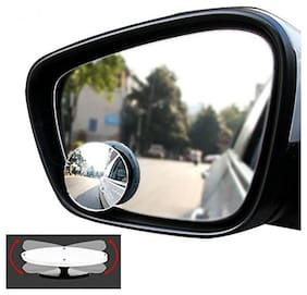 Cranzo Car Blind Spot Mirror Set Of 2 For Mahindra Bolero