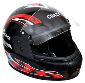 Full Face Helmet Black And Red (1 Piece)