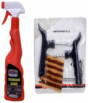 DASHBOARD SHINER SPRAY 250ml+ Tubelass smart Panchar Kit.