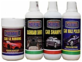 DASHBOARD SHINER 250ml.+ CAR 5X RUBBING POLISH 250ml.+ CAR WAX POLISH 250ml.+ CAR SHAMPOO 250ml.