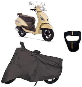 De-Autocare Premium Quality Royal Grey Matty Scooty Body Cover for TVS Jupiter Classic With Free Anti Dust / Pollution Protective Big/Full Face Mask For Men & Women