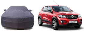 De AutoCare Tripple Stich Grey Matty Car Body Cover For Renault Kwid (With Mirror Pockets)